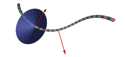 Binormal along a curve in 3D
