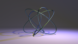 3D rendered Lissajous curve