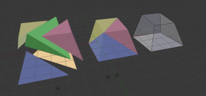 Splitting up a cuboid into tetrahedrons